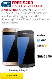 purchase gift card purchase a samsung galaxy s7 and get a free 250 best buy gift card
