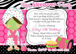 slumber party invitation wording template best template collection