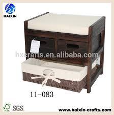 banc pour chambre à coucher charpentiers vintage banc pour chambre à coucher avec coussin et