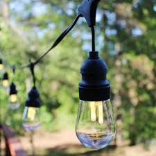 edison filament warm white led outdoor patio string lights