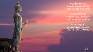 buddham sharanam gacchami mantra wallpaper and meaning mantra
