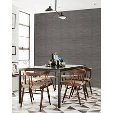 Midcentury Modern Wallpaper - a street midcentury modern dark grey brick wallpaper sample 2540