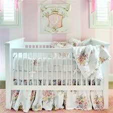 Pink Floral Crib Bedding Notte Luxury Baby Bedding