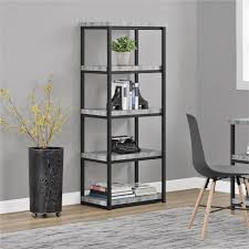 home styles urban style light gray open bookcase 5570 76 the