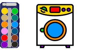 washing machine coloring pages for kids minikce kids youtube