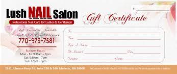 nail salon gift cards promotions offers lush nail salon in marietta ga 770 973 7581
