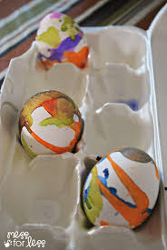 liquid watercolor decorated eggs mess for less