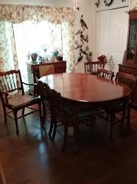 pennsylvania house dining room 2 piece china closet and 6 cane