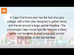 what is a cape cod house floor plan youtube