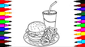 coloring fastfood drawing pages l painting no to junkfood l learn
