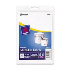 amazon com avery removable print or write labels for laser and