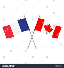 Frwnch Flag Vector Illustration Canadian French Flag Flags Stock Vector