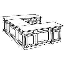 Keswick Conference Table Flexsteel Keswick Right Executive U Desk 7990 37x