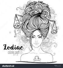 Zodiac Illustration Of Libra Zodiac Sign As A Beautiful