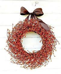 fall wreath fall door wreath orange wreath autumn
