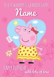 peppa pig birthday card wonderful granddaughter funky pigeon