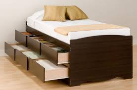 Platform Beds With Storage Underneath - modern bedroom with wooden king size bed designs storage platform