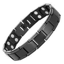 titanium magnetic bracelet black images Double strength titanium magnetic therapy bracelet for jpg