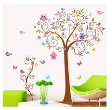 owl and tree wall stickers for children room home decor for bedroom