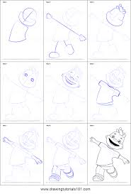how to draw gerald from sid the science kid printable step by step