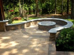 Simple Brick Patio With Circle Paver Kit Patio Designs And Ideas by Paver Patio With Fire Pit U2013 Darcylea Design