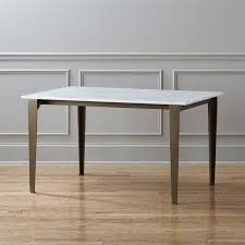 White Parsons Dining Table Unique Modern Dining Tables Cb2