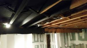 valuable inspiration spray basement ceiling paint a with