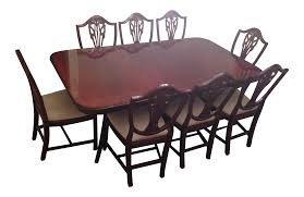 mahogany dining room table heldense mahogany dining set chairish