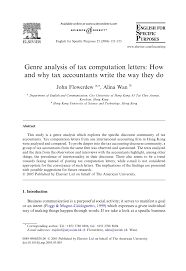 how to write a textual analysis paper genre analysis of tax computation letters how and why tax genre analysis of tax computation letters how and why tax accountants write the way they do pdf download available
