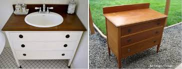 How To Turn A Dresser Into A Bathroom Vanity by Diy Bathroom Vanity Ideas Perfect For Repurposers