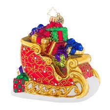 christopher radko ornaments sleighful of love sleighs ornament