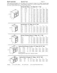Kitchen Base Cabinet Dimensions Standard Bathroom Cabinet Sizes Nrtradiant Com