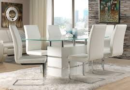 White Leather Dining Chairs Modern Emejing Modern White Dining Room Chairs Gallery Liltigertoo