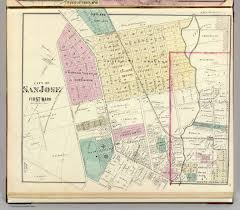 San Jose California Map by San Jose 1st Ward David Rumsey Historical Map Collection