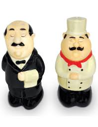 chef and waiter salt pepper shaker set unique gifts shop