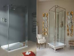 Bathroom Shower Enclosures Ideas Bathroom Elegant Decorating Ideas Using Rounded White Mirrors And