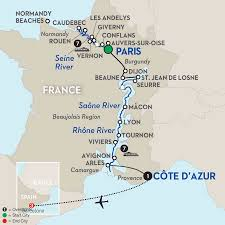 Paris France On Map by Rhone River Cruises Avalon Waterways