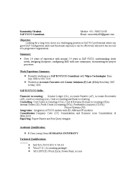 Security Sample Resume by 100 Sample Resume With Sap Experience Marketing Resume Template