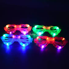 glow party supplies 2018 heart led party eye glasses glasses kids adults