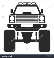 jeep off road silhouette car silhouette vector illustration stock vector 452427304