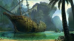 pirate sail wallpapers 1366x768 schooner ship sail ship abandon deserted cove beach