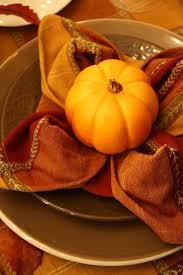 fall place setting napkin fold table settings entertaining