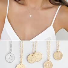 personalized gold necklaces gold initial necklace personalized gold bar necklace dainty jewelry