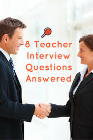 Educational Resumes 163 Best Teacher Interview Questions And Answers Images On