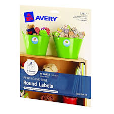 amazon com avery print to the edge round labels glossy white 2