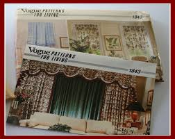 window curtains drapes sewing pattern swags toppers valance