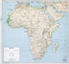 Map Of Africa With Countries by Large Political Map Of Africa With Relief Roads Railroads And