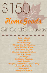 150 homegoods gift card giveaway designer trapped in a