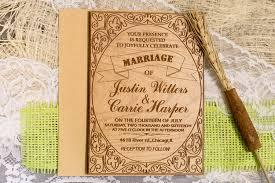 custom wedding invitation set rustic wedding invitations