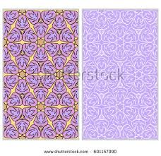 Design Products For Home Seamless Set Floral Pattern Vector Illustration Stock Vector